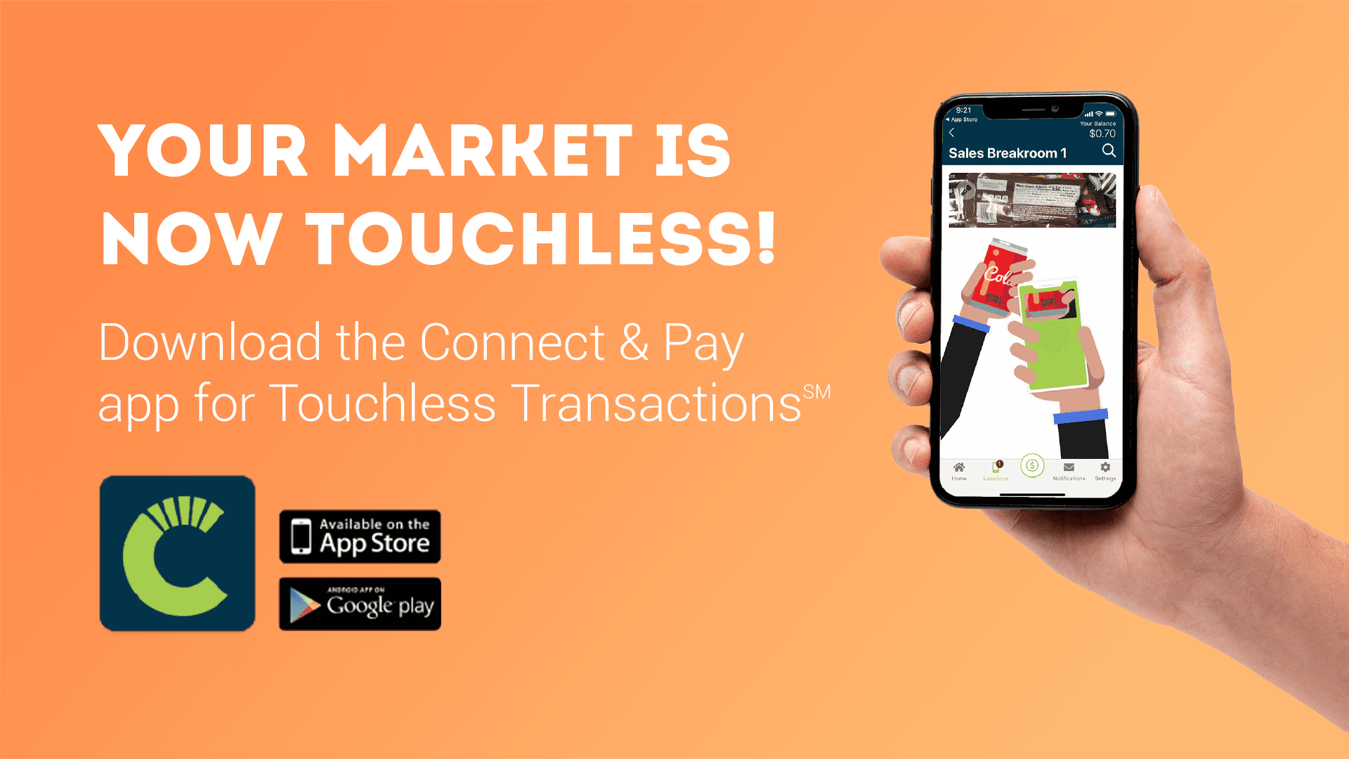 New cashless connect and pay app